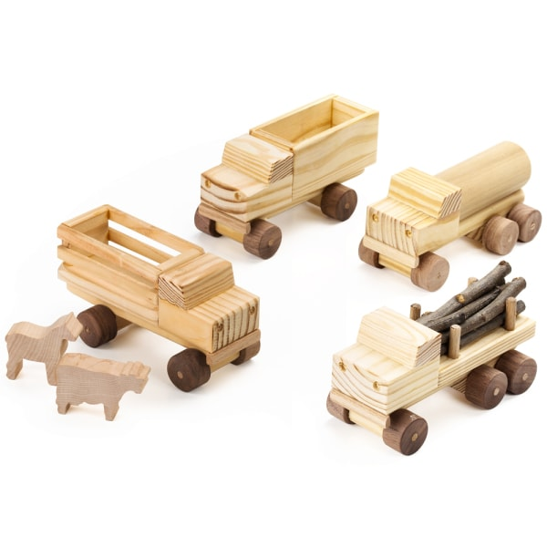 Handmade Wooden Trucks