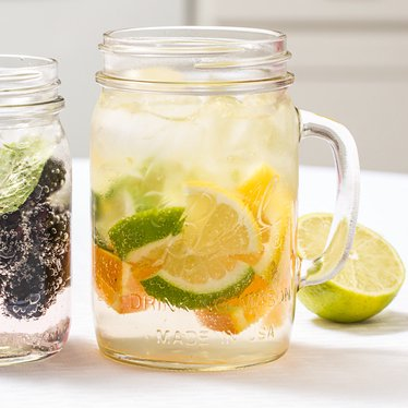 Glass Canning Jar Mugs Set - 24 oz