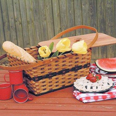 Hand-Woven Picnic Basket