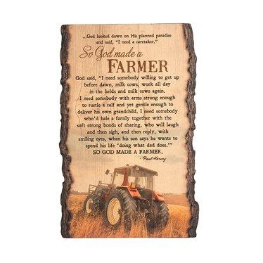 God Made a Farmer Sign