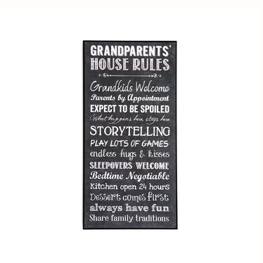 Grandparents House Rules Wall Art New Lehman S