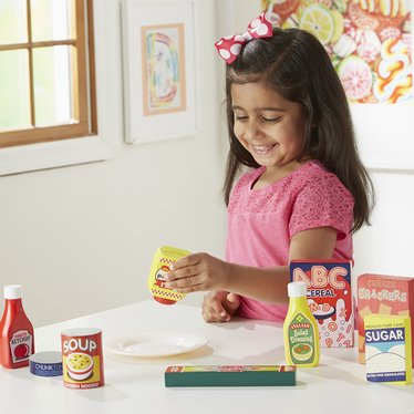 Wooden Play Food Pantry Set