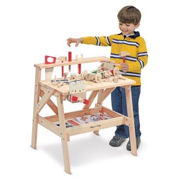 Children's Solid Wood Work Bench