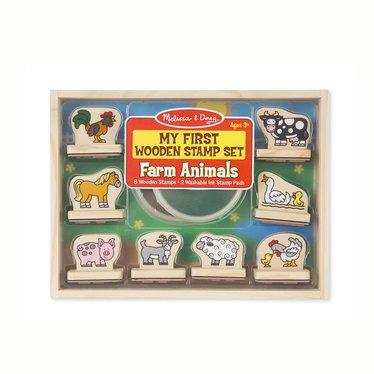 My First Wooden Stamp Set – Farm Animals