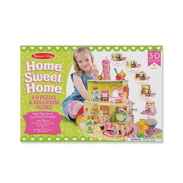 Home Sweet Home 3D Puzzle and Dollhouse In One