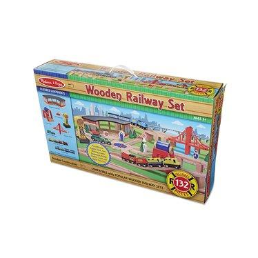 Wooden Railway Play Set