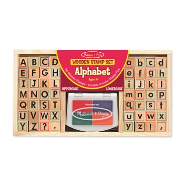 Wooden Stamp Set - Alphabet