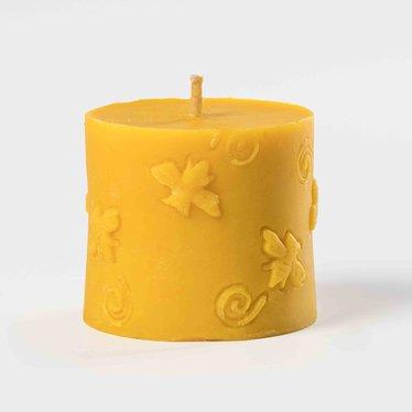 Beeswax Short Bee Pillar Candle