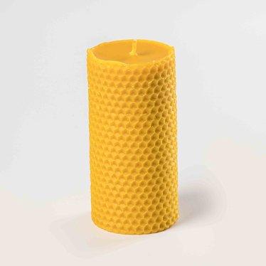Beeswax Medium Honeycomb Pillar Candle