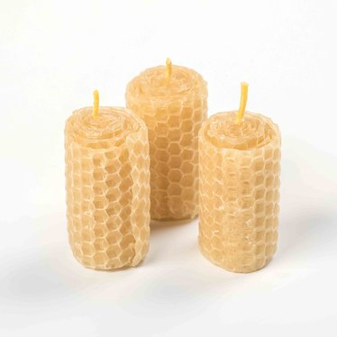 Rolled Beeswax Votive Candles