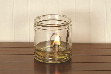Merry Corliss Cabin Olive Oil Lamp