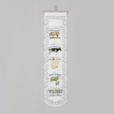 Farm Animal Welcome Wall Banner