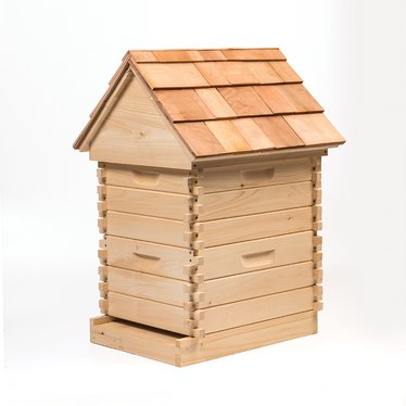 Amish-Made Log Cabin Style Beehive Kit