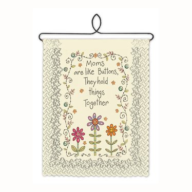 Moms Are Like Buttons Wall Banner