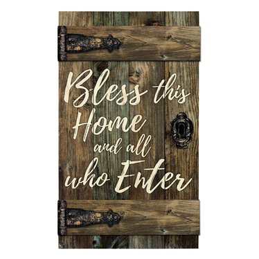 Bless This Home Barn Door