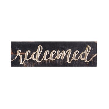 Redeemed Carved Calligraphy