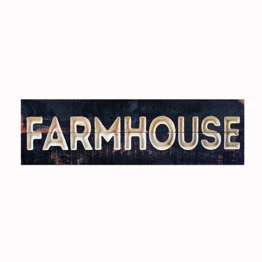 Farmhouse Carved Calligraphy Sign