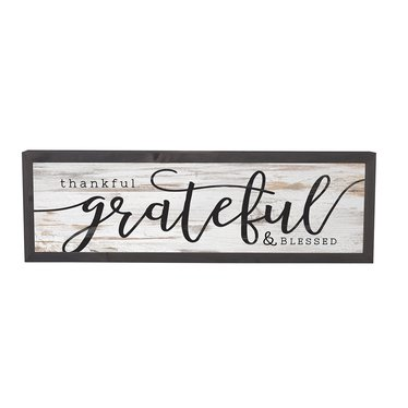 Thankful, Grateful and Blessed Farmhouse Frame