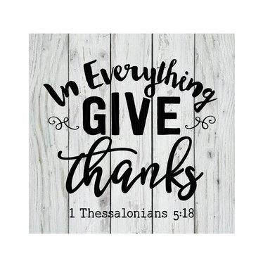 In Everything Give Thanks Pallet Sign