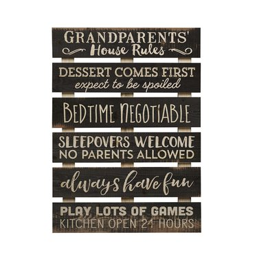 Grandparents' House Rules Skid Sign