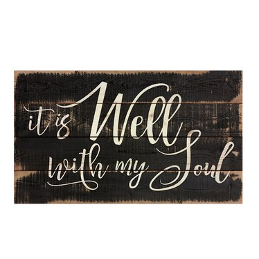 It is Well With My Soul Pallet Sign