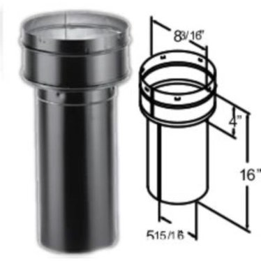 "DuraBlack Slip Increaser 6"" to 8"" Stove Pipe"