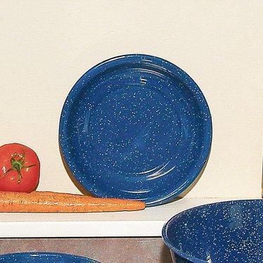 Royal Blue Enamelware Cereal Bowl