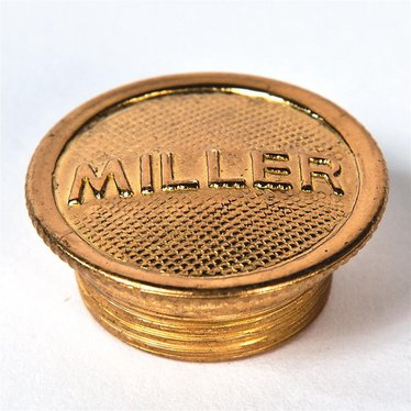 Miller Logo Filler Cap for Oil Lamps