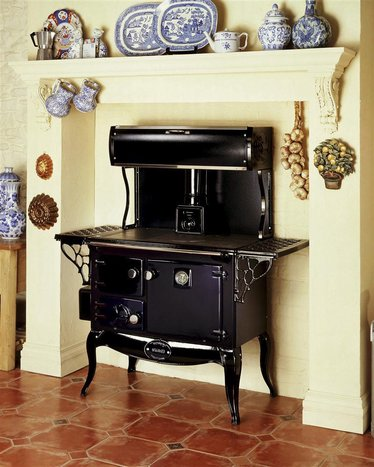 The Waterford Stanley Wood Cookstove with Warming Closet