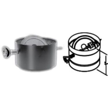 DuraBlack Damper Section Wood Stove Pipe - DuraBlack Damper Section Wood Stove Pipe, Stove Parts - Lehman's