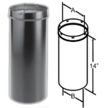 durablack slip connector wood stove pipe