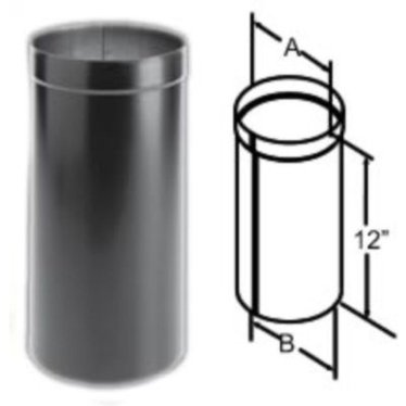 DuraBlack Oval to Round Adapter Wood Stove Pipe - DuraBlack Oval To Round Adapter Wood Stove Pipe, Stove Parts