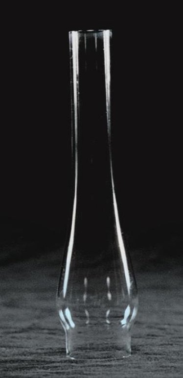 "Clear Oil Lamp Chimney - 1-1/8"" base"