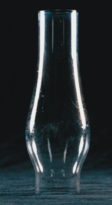 "Clear Oil Lamp Chimney - 1 1/8"" base x 4 1/2""H"