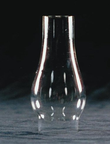 """Clear Oil Lamp Chimney - 1 5/8"""" base"""