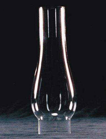 "Clear Oil Lamp Chimney - 2-1/8"" base"