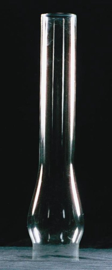 "Clear Oil Lamp Chimney - 2-5/8"" base"
