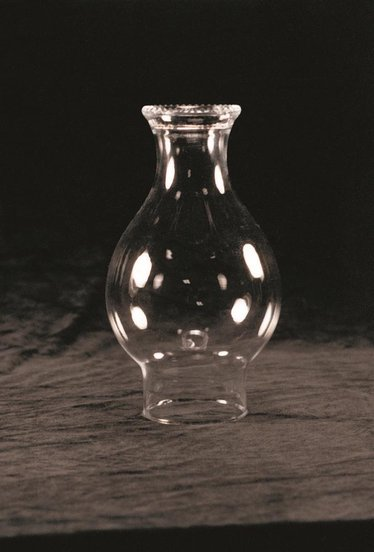 "Clear Crimp Top Oil Lamp Chimney - 3"" base"