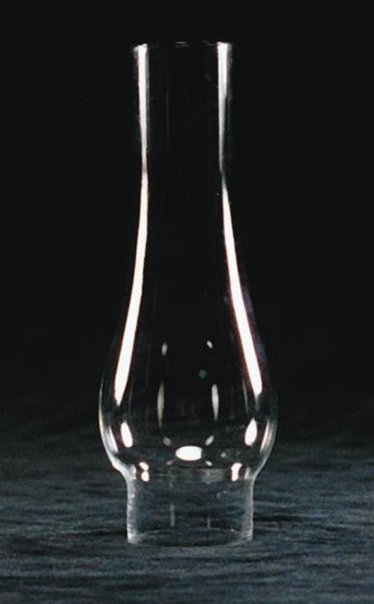 "Clear Oil Lamp Chimney  - 1 1/2"" base"