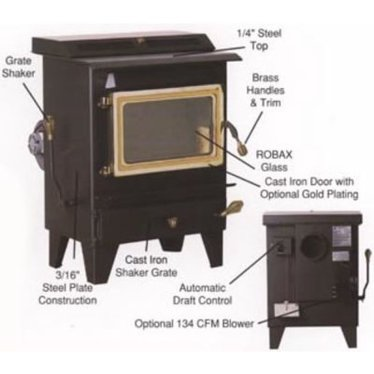 Small Hitzer Coal Heat Stoves