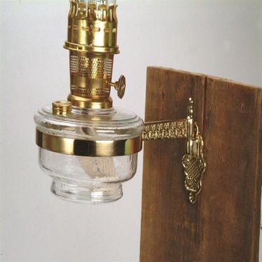 Deluxe Brass Wall Bracket Assembly for Aladdin Oil Lamps