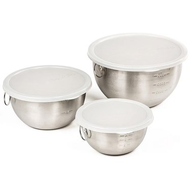stainless steel bowls with lids