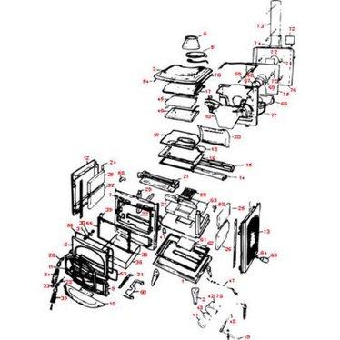 Waterford Erin 90 T⁄V & R⁄V Woodburning Stove Parts - Waterford Erin 90 T⁄V & R⁄V Woodburning Stove Parts, Stove Parts