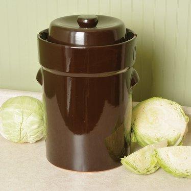 European-Style Fermenting Crocks - 15-Liter
