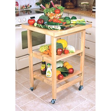 Folding Butcher Block Table