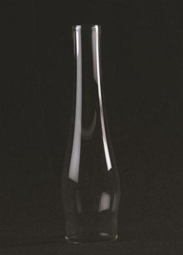 """Clear Oil Lamp Chimney - 3"""" base"""