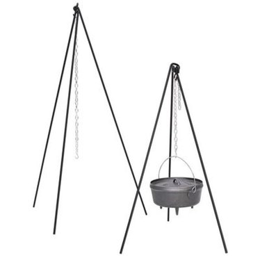 Tall Boy Tripod with Chain for Cast Iron Cookware over an open fire