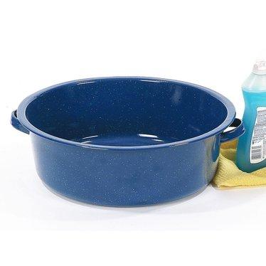 Enamelware Dish Basin - Blue