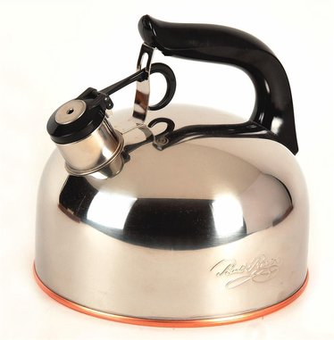 Whistling Tea Kettle with Copper Bottom 2-1/3 Quart