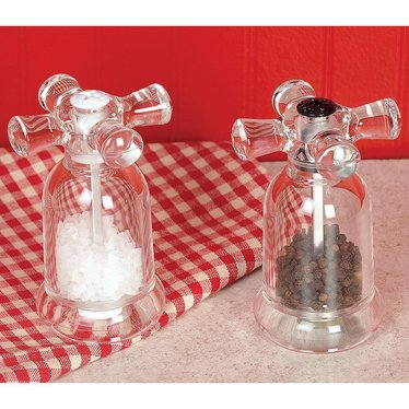 Faucet Salt and Pepper Mills